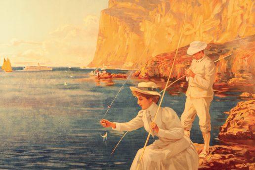 E. Ximenes, Manifesto con l'orario di navigazione sul Lago di Garda