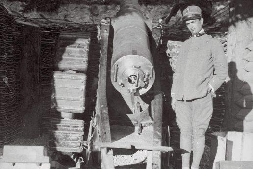 Postazione con cannone da 149A, Cima Vil, 1917 (ACC)